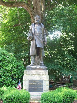 Thomas L. Kane - Statue of Thomas L. Kane, Kane Memorial Chapel, Kane, Pennsylvania