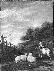Hirtenjunge mit Vieh