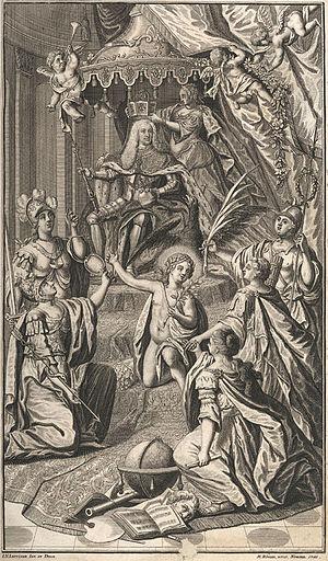 Charles VII, Holy Roman Emperor - Allegorical depiction of Charles's coronation as Holy Roman Emperor (1742)