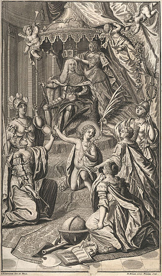 Charles VII, Holy Roman Emperor - Allegorical depiction of Charles's coronation as Holy Roman Emperor (1742)