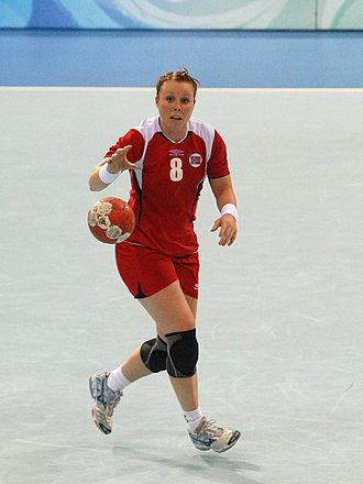 Norway women's national handball team - Karoline Dyhre Breivang during the match against Romania on 17 August