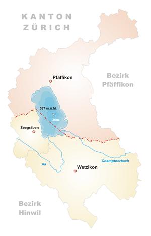 Karte Pfäffikersee