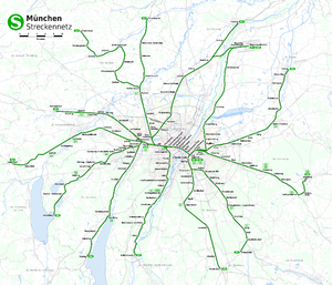 Munich S-Bahn - Network of the Munich S-Bahn since 2009