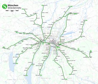 Munich S-Bahn - Network of the Munich S-Bahn since 2009