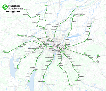 Munich Subway Map.Munich S Bahn Wikipedia