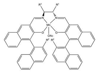 Jacobsen epoxidation - Image: Katsukis catalysts