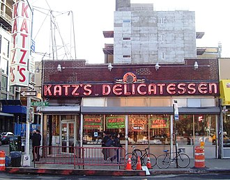 Lower East Side - Katz's Deli, a symbol of the neighborhood's Jewish cultural history