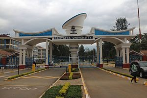 Kenyatta University - Image: Kenyatta University Entrance