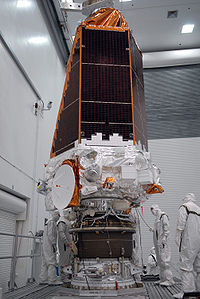 Kepler space telescope shortly after the assembly to the third stage.jpg