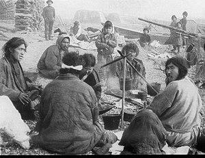 Ket people - Image: Ket campfire 1914 cropped