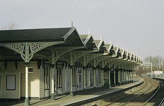 Kettering railway station station which serves the town of Kettering in Northamptonshire, England