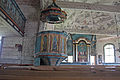 Keuruun vanha kirkko - Saarnastuoli ja alttari C IMG 3068.JPG