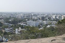 Khammam as seen from Narasimha Swamy Hill
