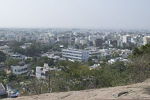 Khammam - Khammam as seen from Narasimha Swamy Hill