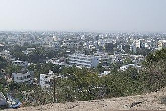 Khammam - Khammam as seen from Narasimha Swamy Hill