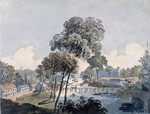 Chippawa, Ontario - A copy of George Heriot's sketch of Kings Bridge in 1801