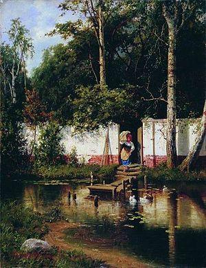 Alexander Kiselyov (painter) - Little Pond (1892)