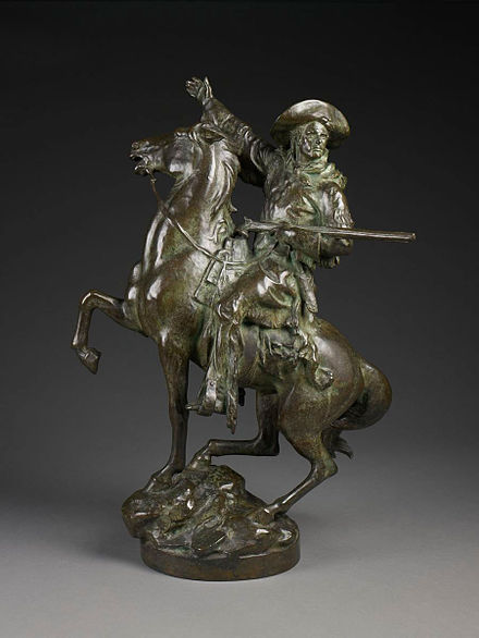 Kit Carson bronze statue by Frederick William MacMonnies, 1906. KitCarson-FrederickWilliamMacMonnies-BMA.jpg