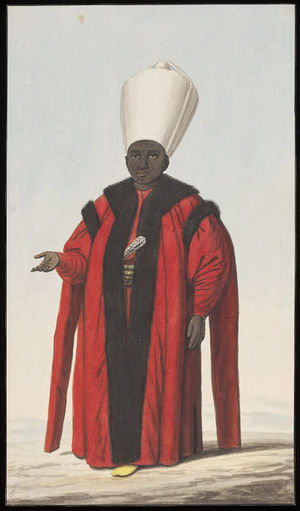 Kizlar Agha - Depiction of a Kizlar Agha, ca. 1809