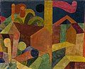 Klee Landscape with Flags; Houses with Flags 1915.jpg