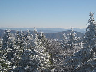 Spruce Knob mountain in United States of America