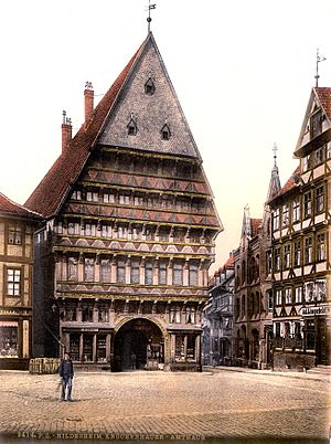 Butchers' Guild Hall, Hildesheim - Butchers' Guild Hall before World War II.
