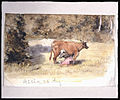 Ko mjölkas av mjölkpiga. Fritz von Dardel - Nordiska Museet - NMA.0043703.jpg