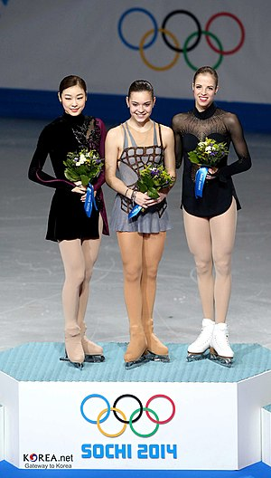 Adelina Sotnikova - 17 years old Sotnikova at the 2014 Winter Olympics podium