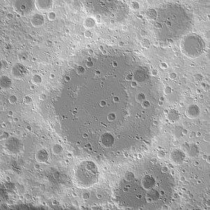 Korolev (lunar crater) - Image: Korolev basin topo