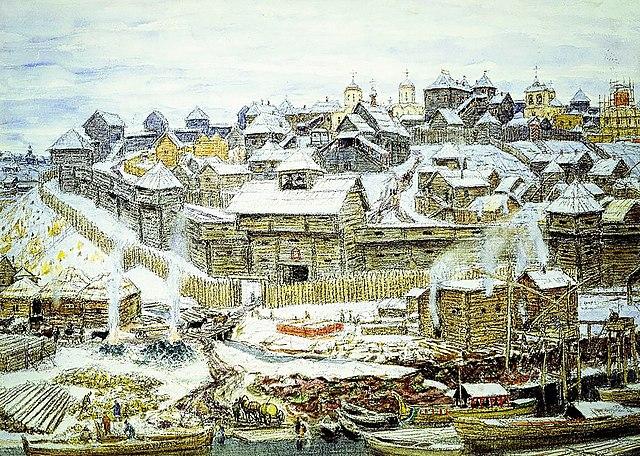 Кремль при Иване Калите, картина А.М. Васнецова