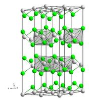 Struktur von Eisen(II)-chlorid