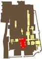 Krypta św. Leonarda na Wawelu na planie podziemi Katedry Wawelskiej.png