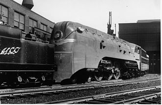 Otto Kuhler - ALCO 4-6-4 class F7 steam locomotive streamstyled by Otto Kuhler for Milwaukee Road's Hiawatha trains