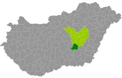kunszentmárton térkép Kunszentmárton District   Wikipedia kunszentmárton térkép