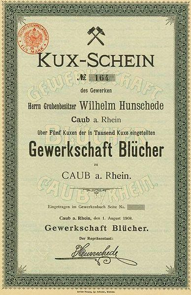 http://upload.wikimedia.org/wikipedia/commons/thumb/e/e7/Kux-Schein_Gewerkschaft_Bl%C3%BCcher_Kaub_Caub_1908.jpg/388px-Kux-Schein_Gewerkschaft_Bl%C3%BCcher_Kaub_Caub_1908.jpg
