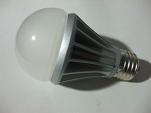 Phase-out of incandescent light bulbs - 6 W LED lamp, efficiency class A