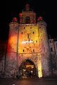 La Tour de la Grosse Horloge illuminée, Noël 2009 (18).JPG