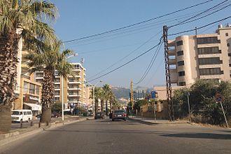 Zgharta - The main street in Zgharta
