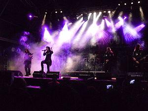 Lacuna Coil - Lacuna Coil performing live at the Costa de Fuego festival in Benicàssim in July 2012