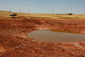 2010–13 Southern United States and Mexico drought - Dried up lake in Oklahoma as a result of the droughts
