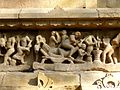 Lakshmana Temple Western Group of Temples Khajuraho India - panoramio (20).jpg