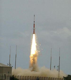 VSB-30 - Image: Lançamento do foguete brasileiro de médio porte VSB 30 V07 da Base de Alcântara