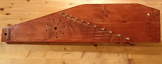 Kokles - 11-string Latgale kokles with aspen body, fir soundboard and oak tuning pegs