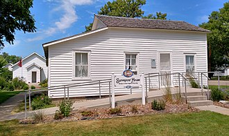 Laura Ingalls Wilder - Surveyor's House, the first home in Dakota Territory of the Charles Ingalls family - De Smet, SD