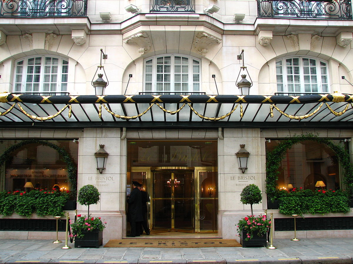 H tel le bristol paris wikip dia for Hotel design paris 11
