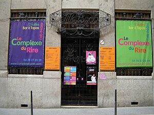 Rue des Capucins - The café-théâtre Le Complexe du Rire, at No. 7