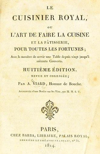 Le Cuisinier Impérial - Title page of Le Cuisinier Royal, ex-Le Cuisinier Impérial