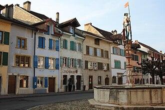 Le Landeron - Old town of Le Landeron