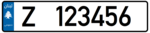 Lebanon - License Plate - Private Zahleh - EU Size.png