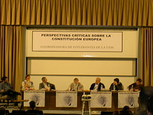 Panel debate at UAM